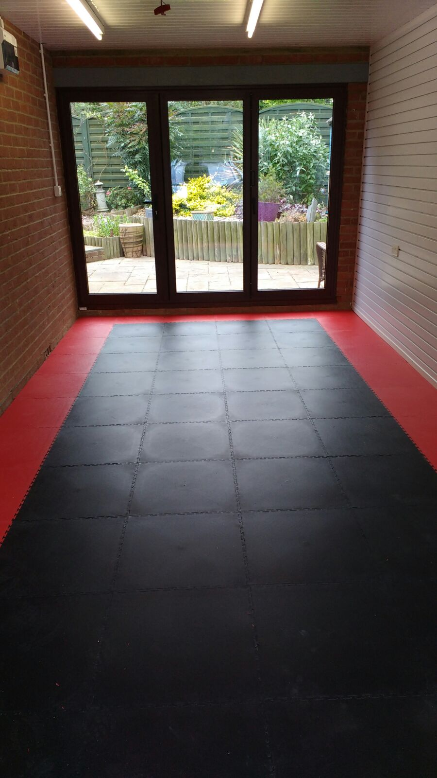 Waltham Abbey Garage Floor TIles Makeover Installation